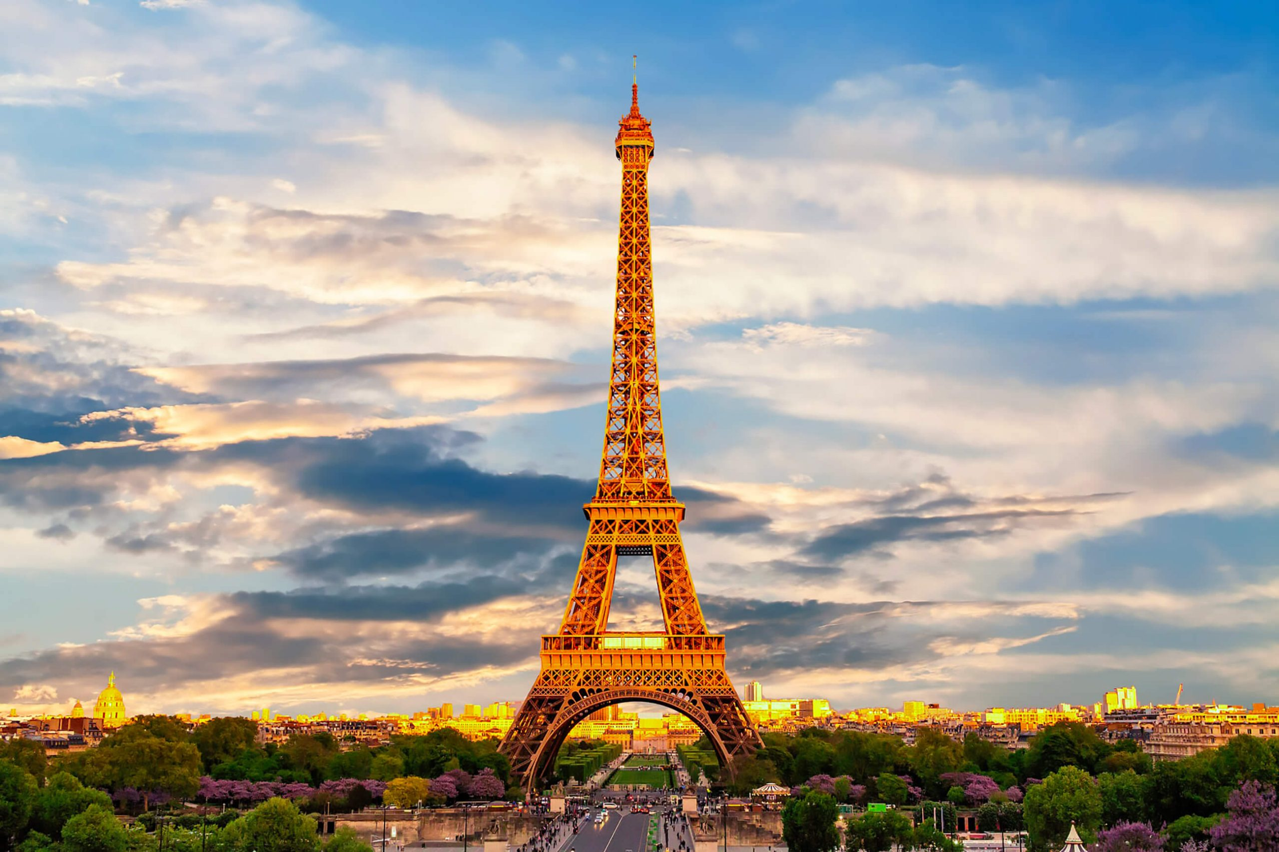 An Image of the Eiffel Tower in Paris, the Economic Heart of France