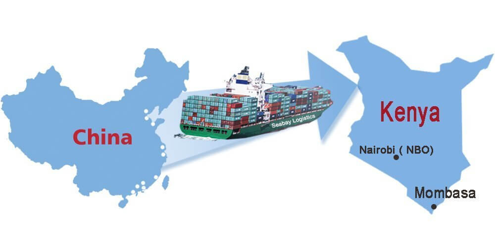 Products Shipping from China to Kenya