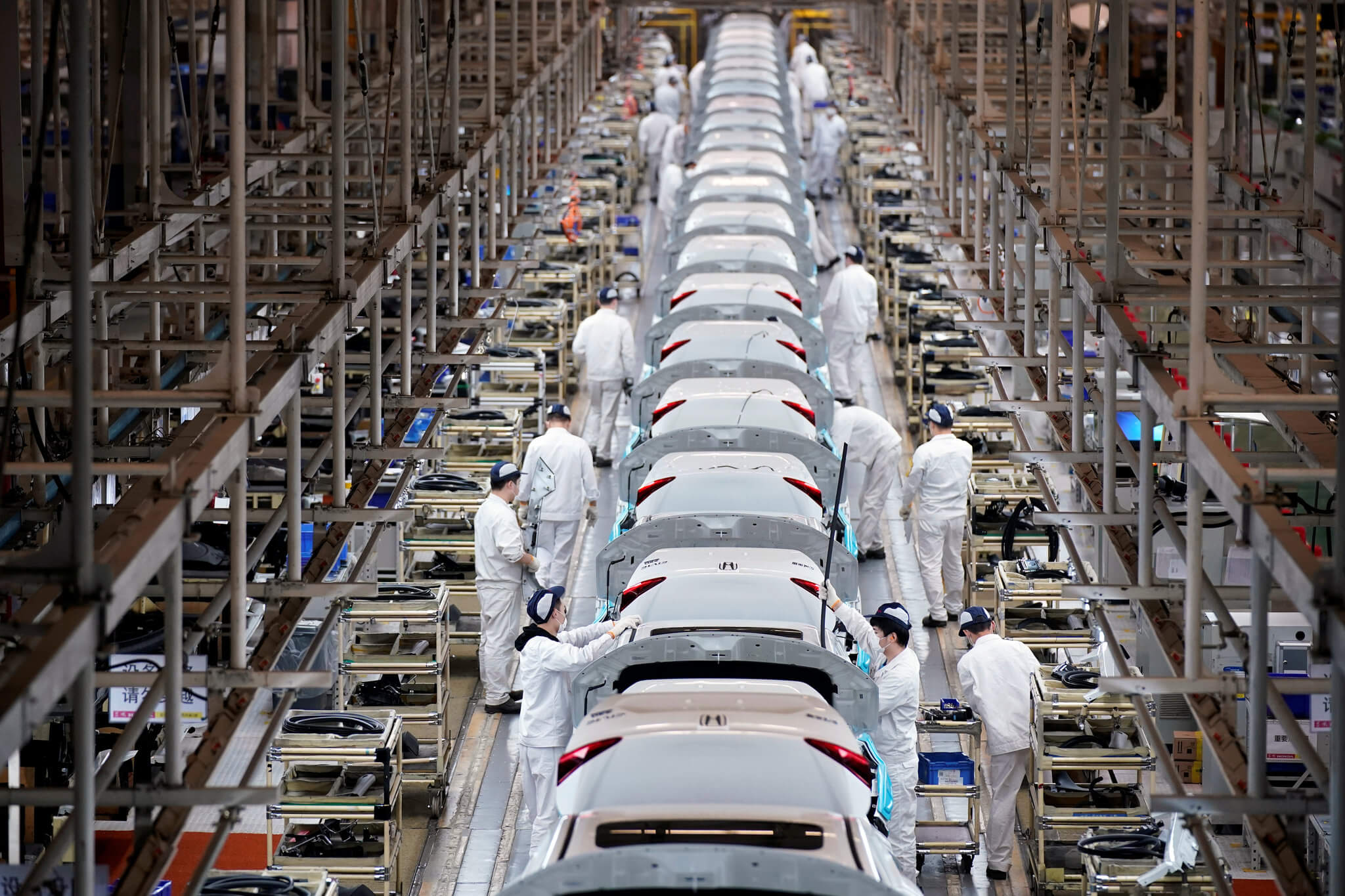 A Chinese Factory Assembling Automobiles