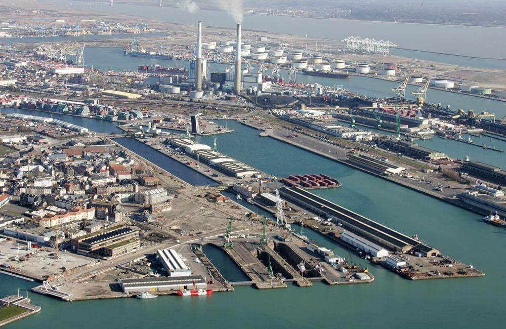 An Image of the Le Havre, one of the major ports in Northern France