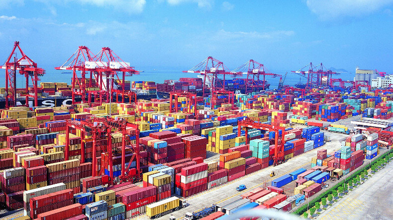 An Image of the Port of Shenzhen, one of the busiest ports in China
