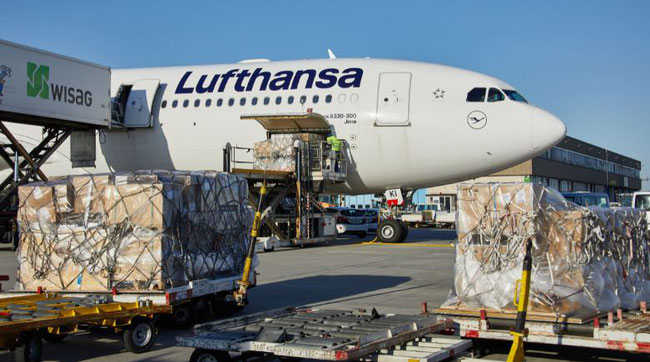 Air cargo is handle with care.