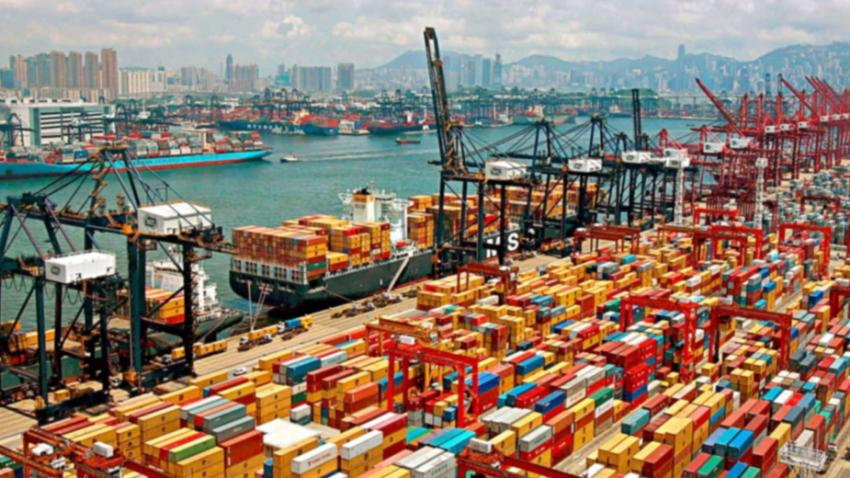 Shanghai sea port is one of busiest ports in the world.