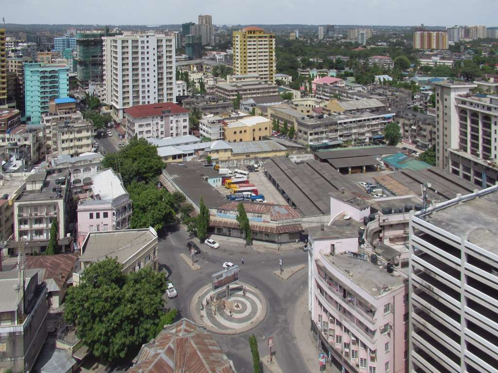Aerial View of Dar es Salaam, Tanzania's Largest City and its Economic Hub