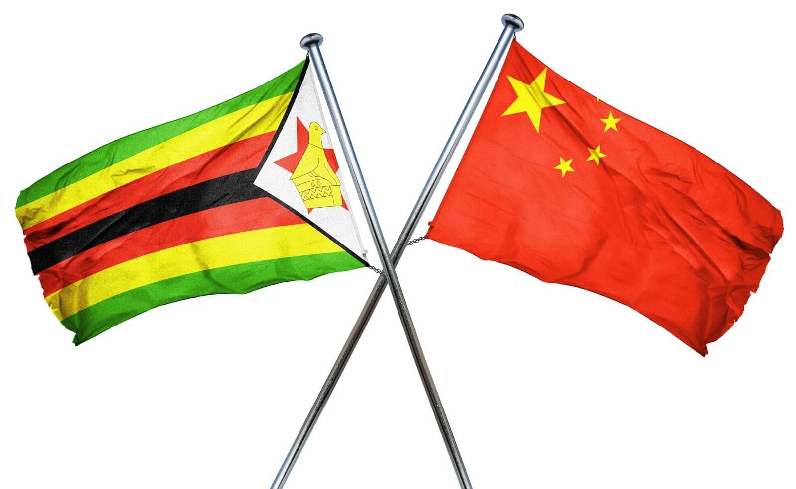 China and Zimbabwe's Flag