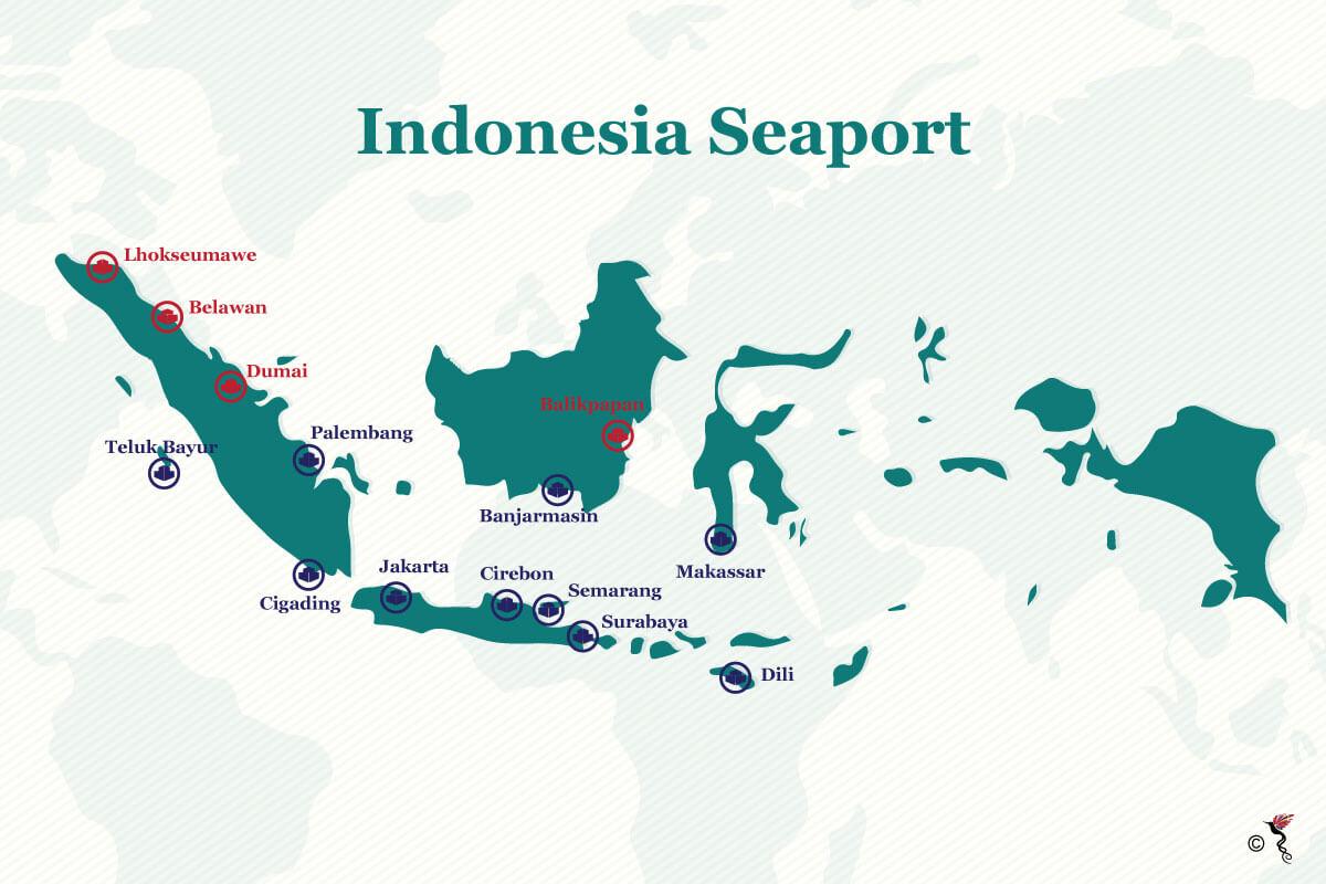 Indonesia-Port-Map