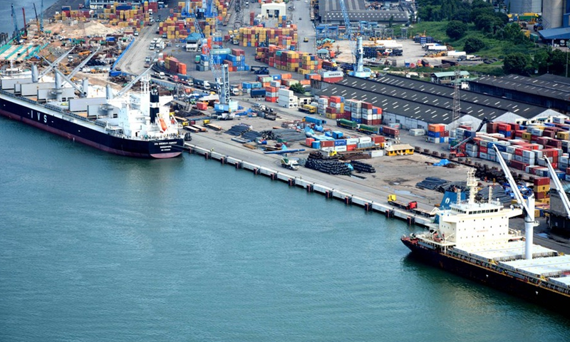 A Picture of the Dar es Salaam Port, the largest port in Tanzania set to expand with a $154 million Expansion Plan