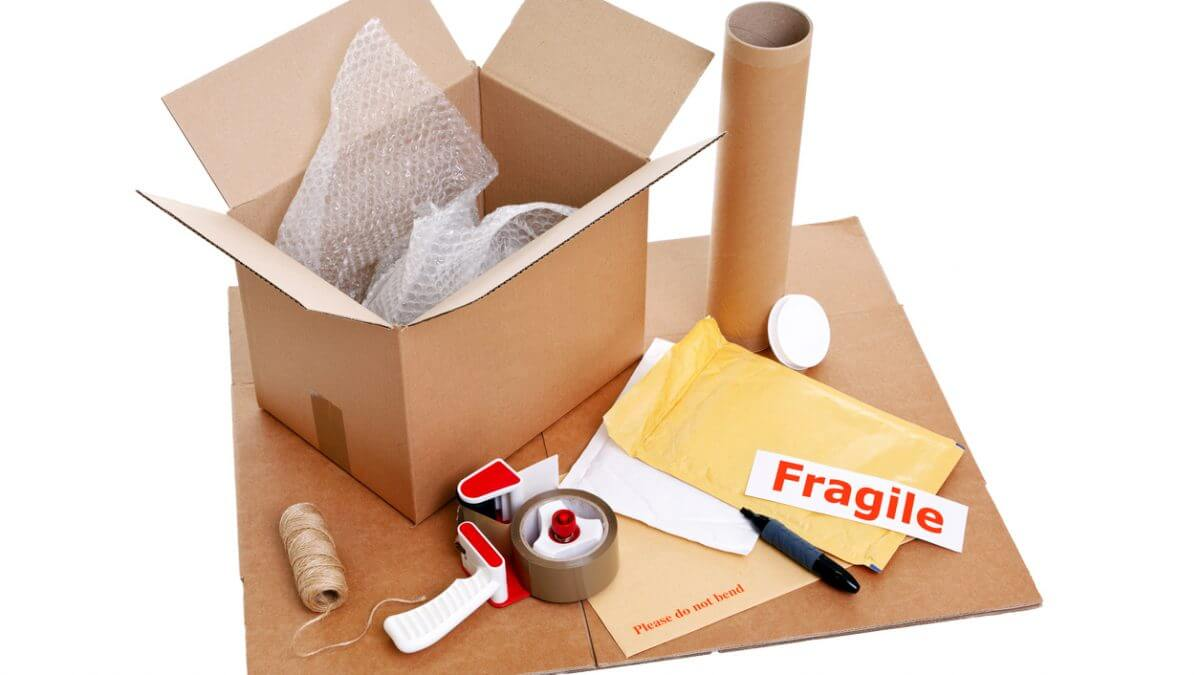 Pack properly for courier pickup and delivery