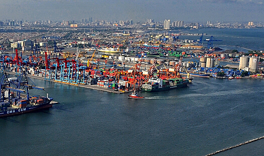 The Port of Jakarta is the largest