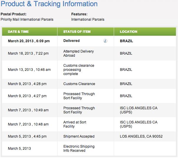 USPS Express Shipping Information