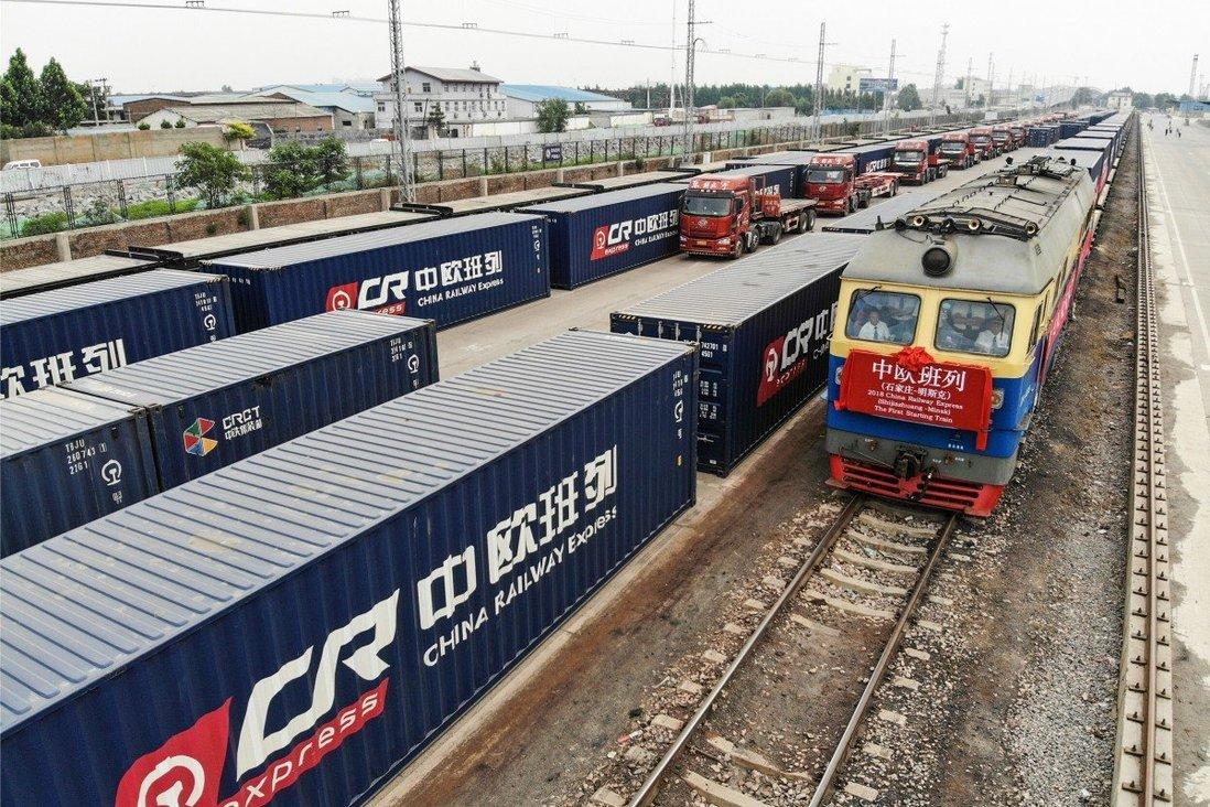 China to Europe has the modern railway shipment system
