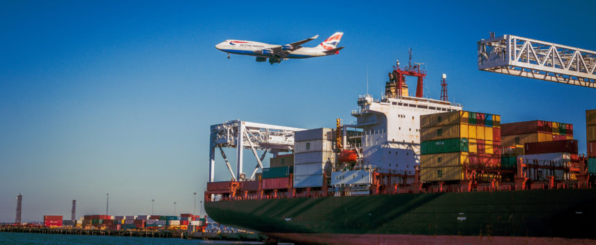 Alibaba uses air and sea freights.