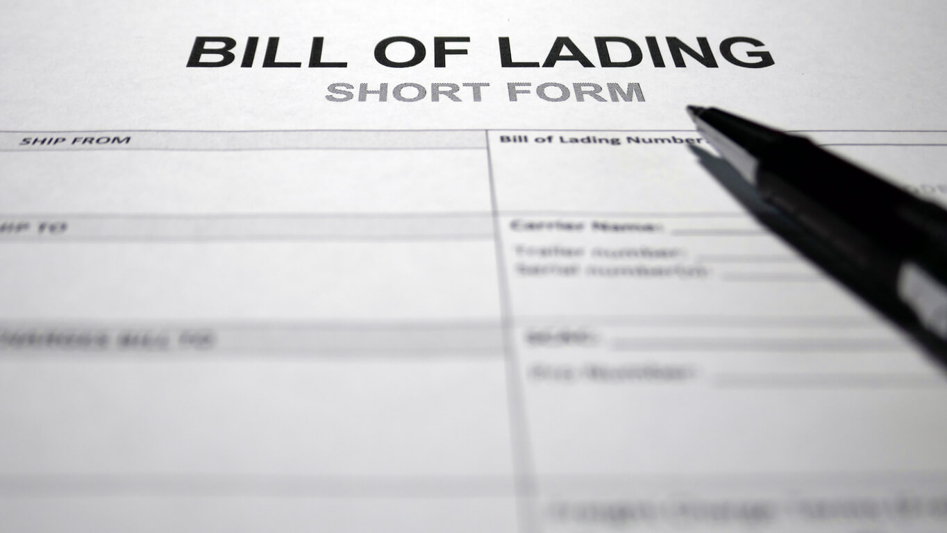 Bill of lading is very important
