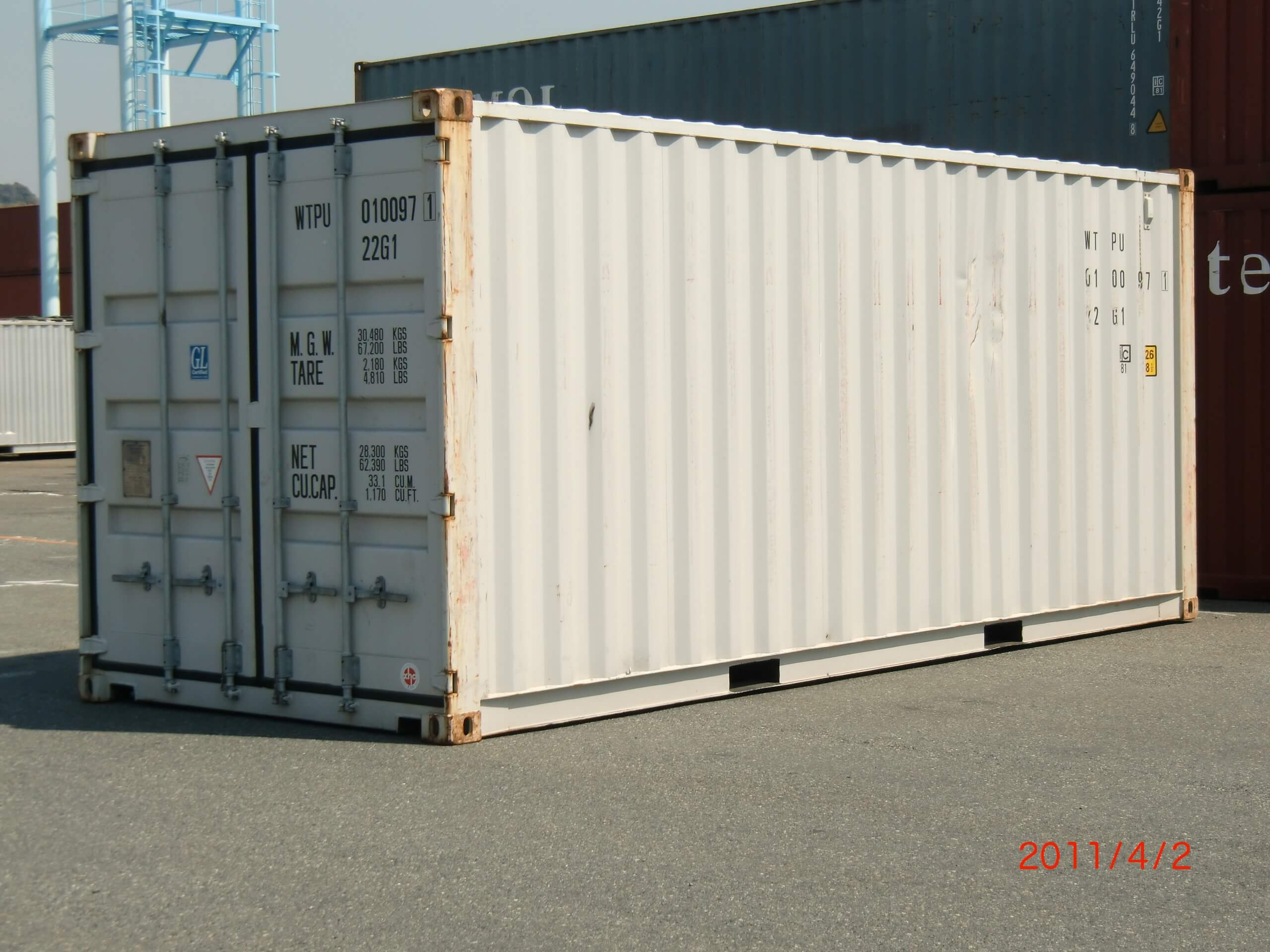 20 ft container for sea freight shipping from China to Zambia