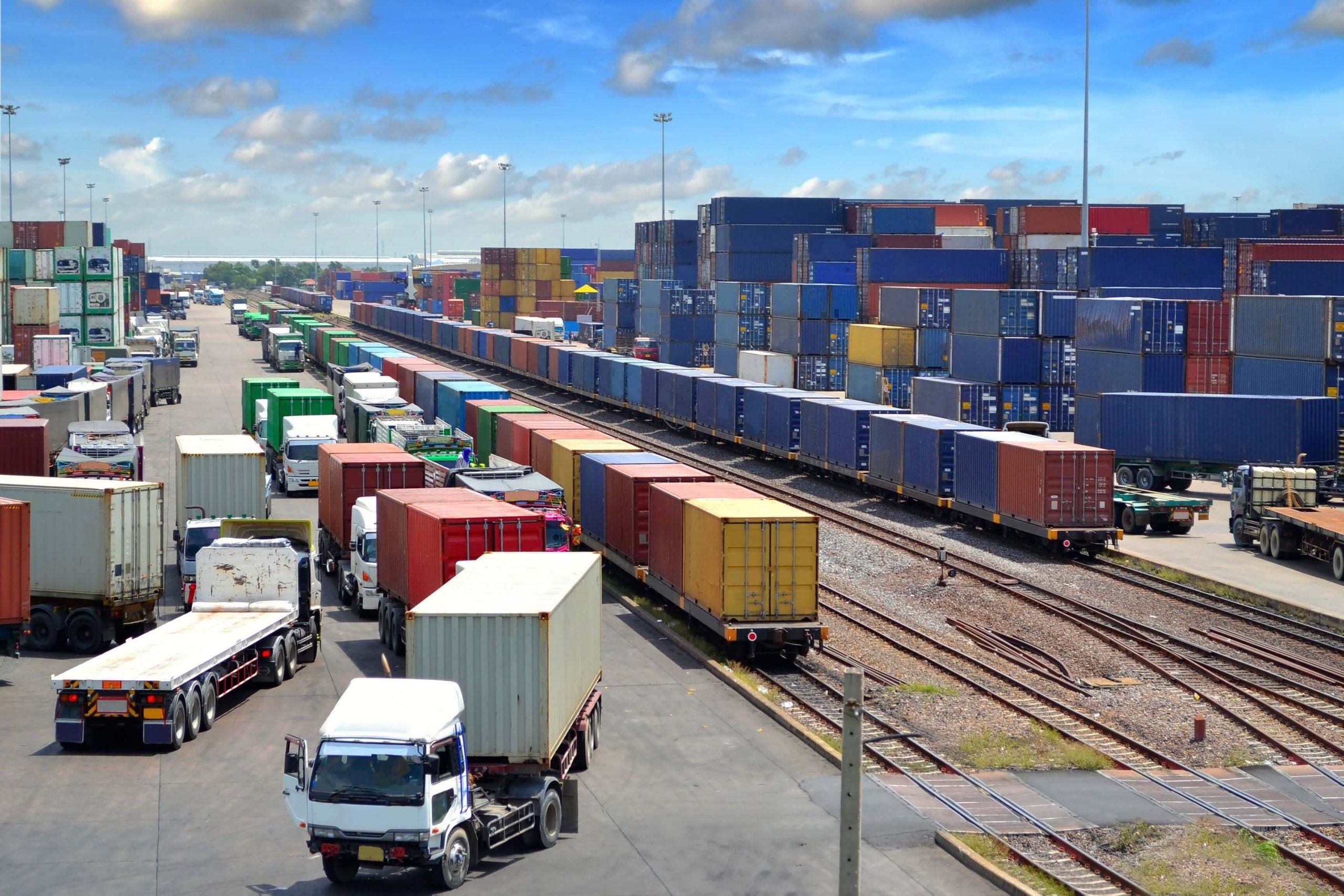 Intermodal Freight - Rail Meeting Road