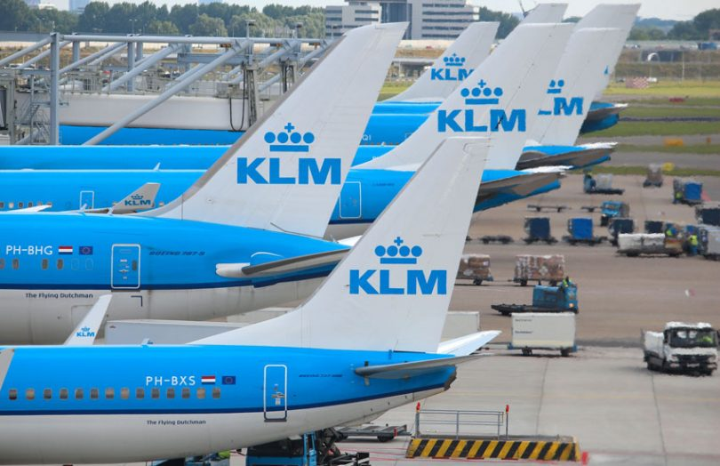 KLM is the airline of the Netherlands.