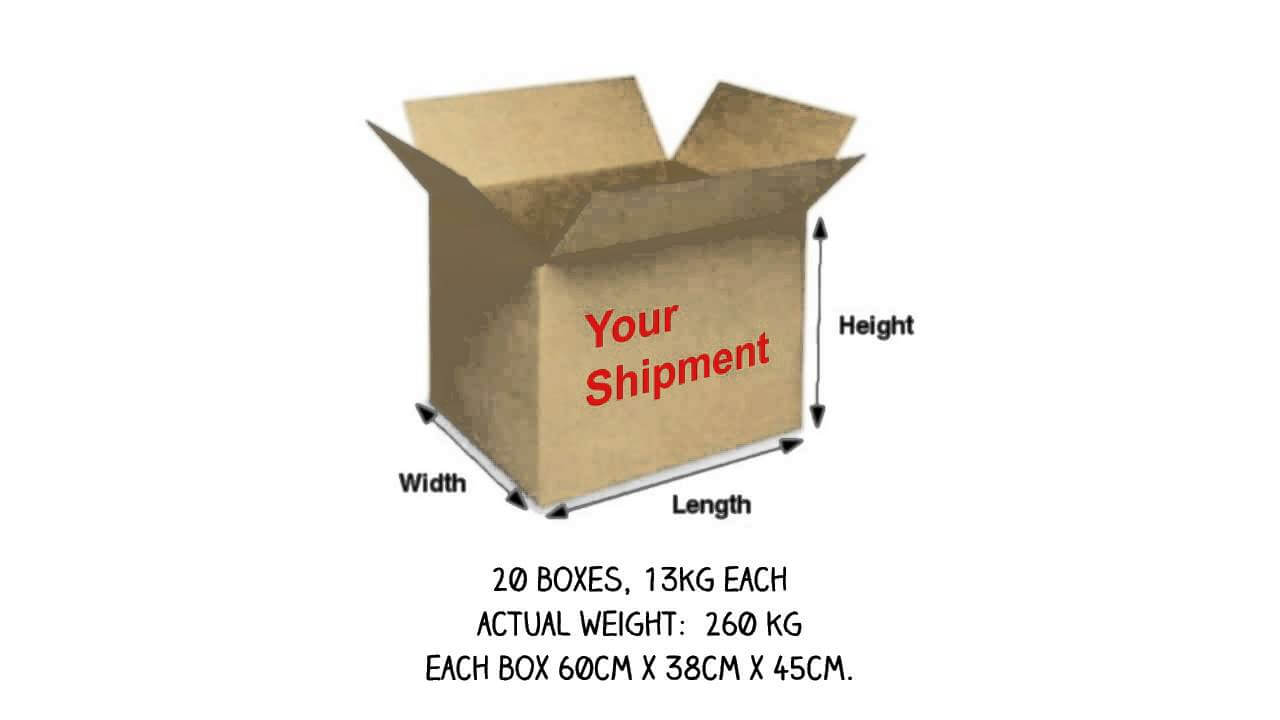 Weight is important for pick and delivery