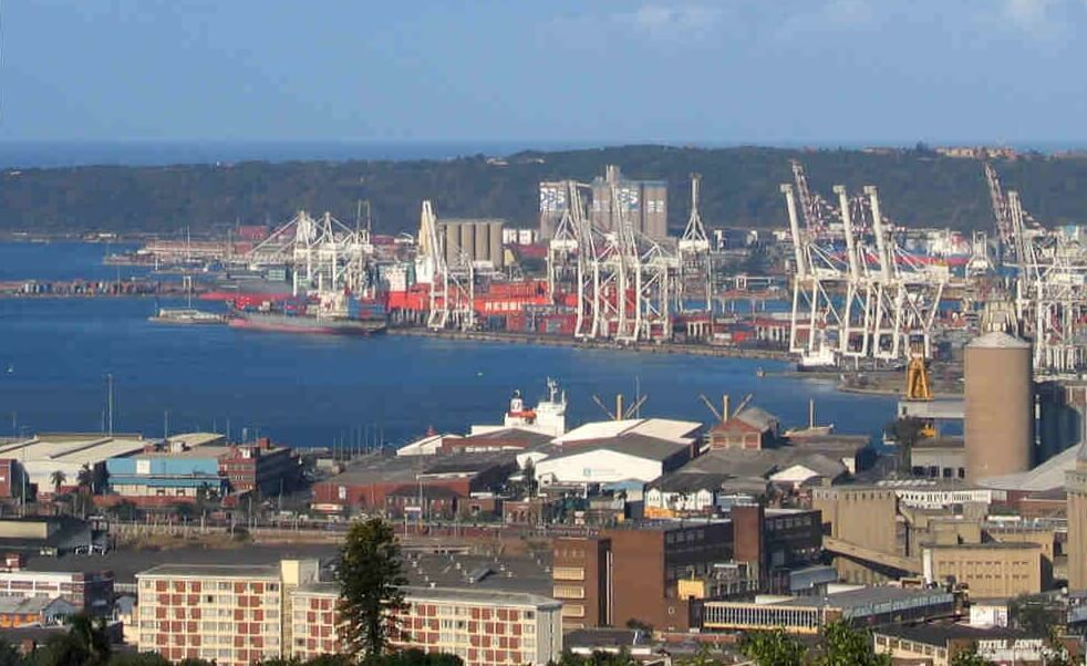 You can use Durban sea port to transport to Zambia