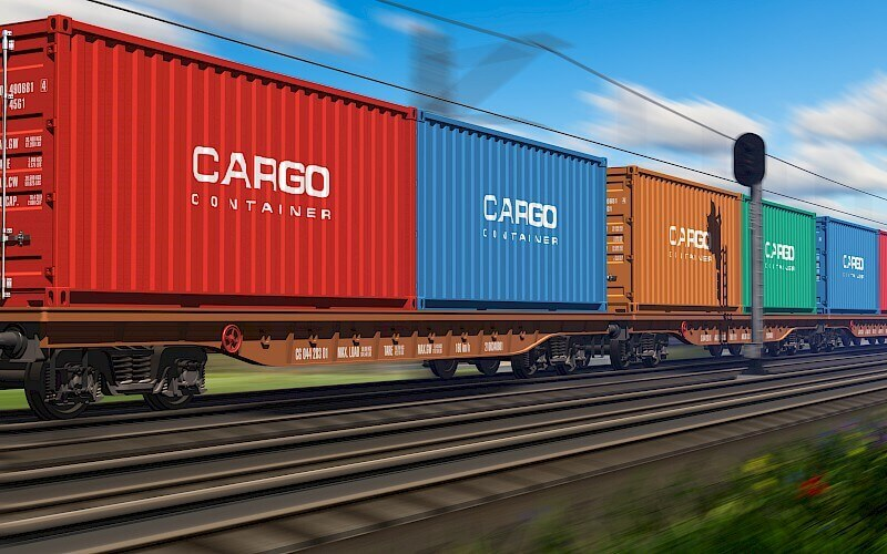 You can use rail freight for door to door service