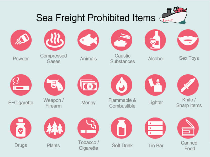 Sea Freight Restricted Items