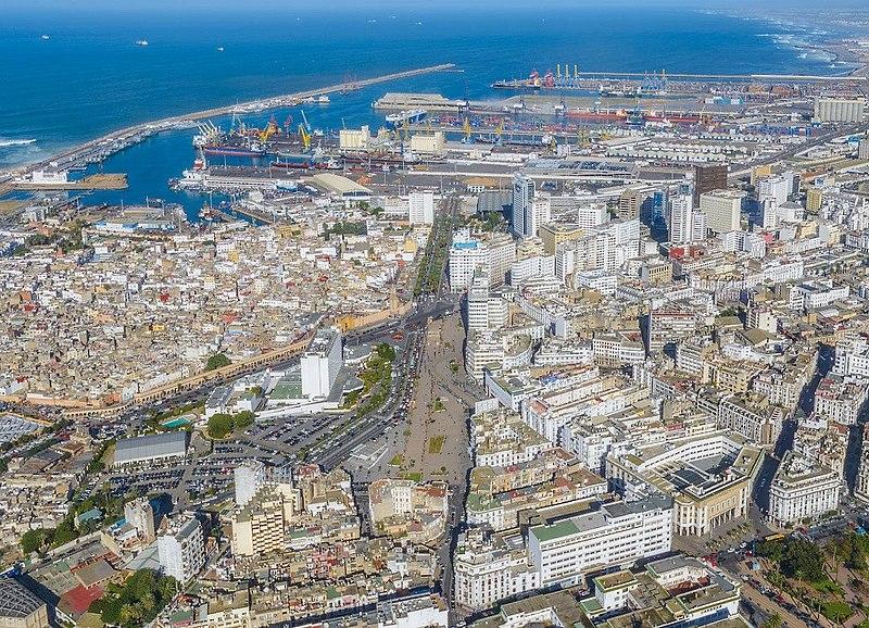 Port and City of Casablanca