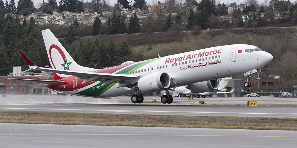Royal Air Maroc the national airlines of Morocco.