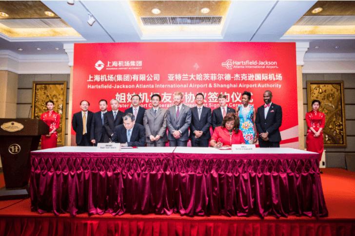 Signing Memorandum Of Understanding Between Atlanta And Shanghai Airport