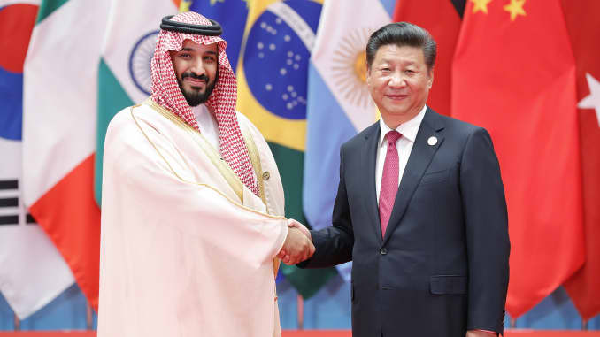 Saudi prince and Chinese President Building Trade Relation
