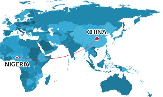 China to Nigeria