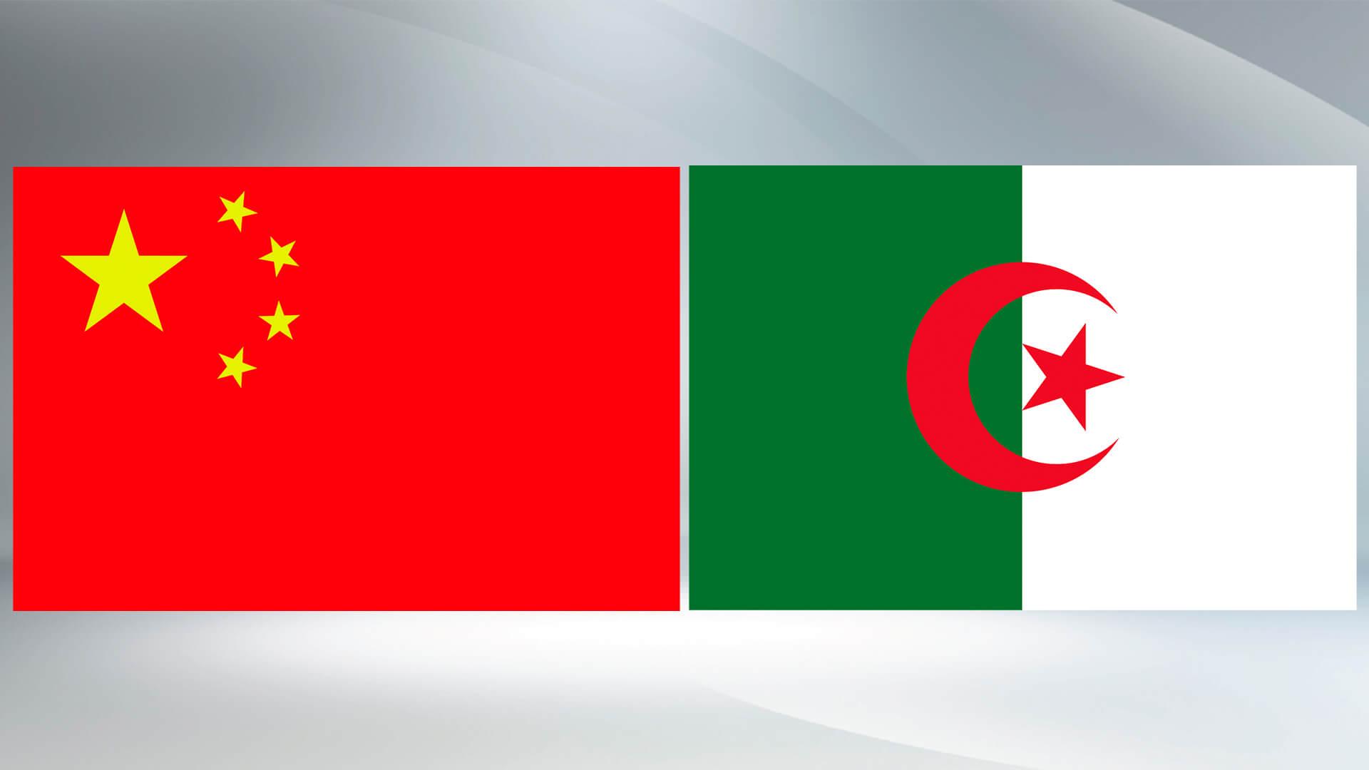 China and Algeria Flag