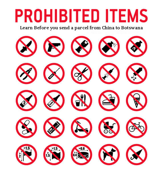 Restricted Items To Ship From China To Botswana