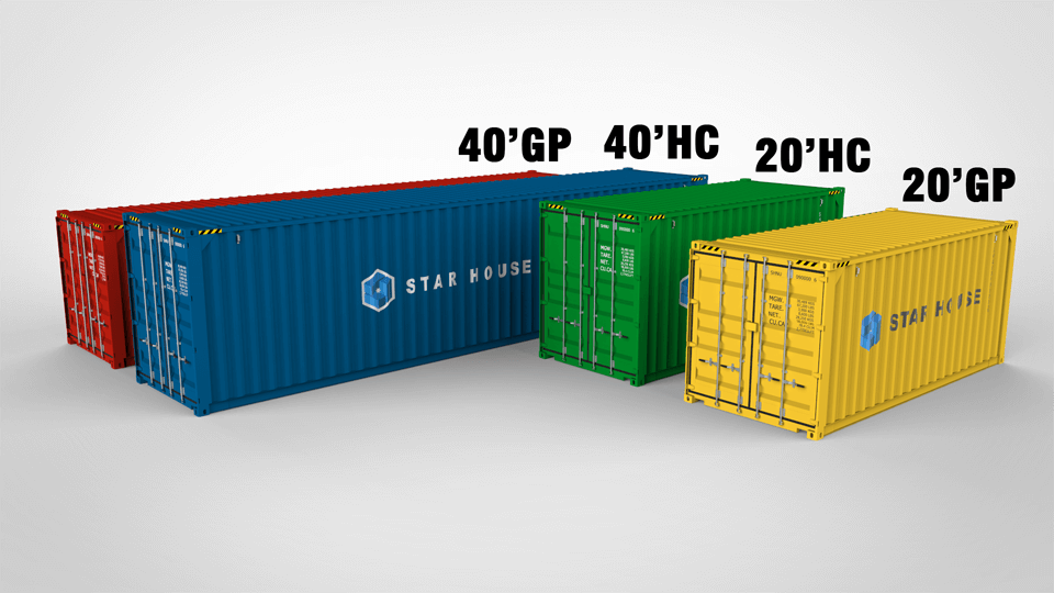 Container In Different Size.