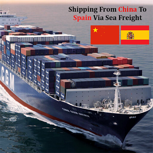 Sea freight Shipping From China To Spain