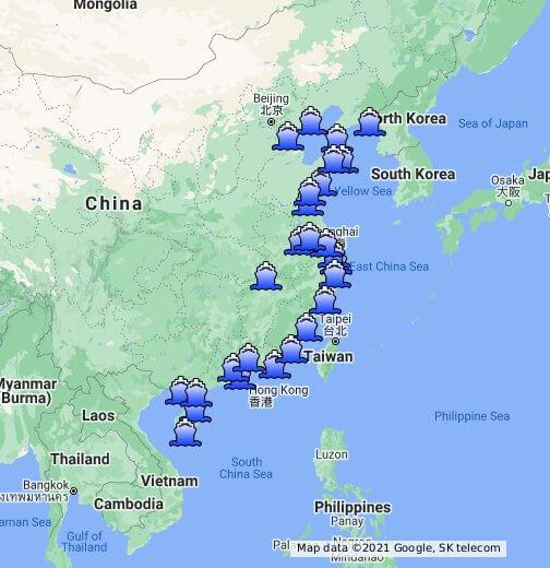 China Major Sea Ports