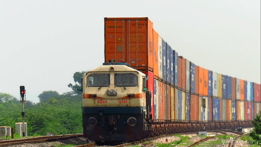 Double Stack Container Train