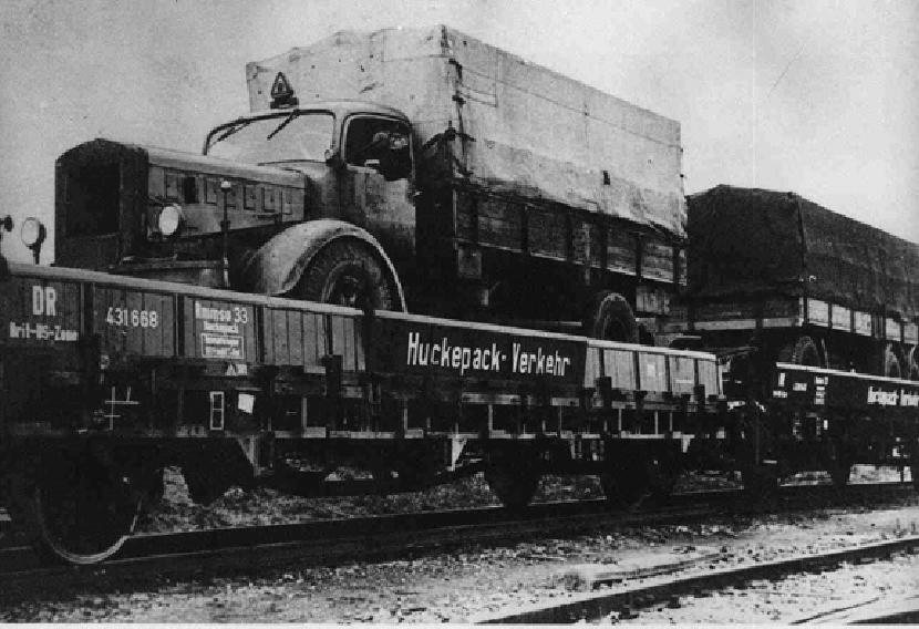 German Rail's Piggie-back during 1940's