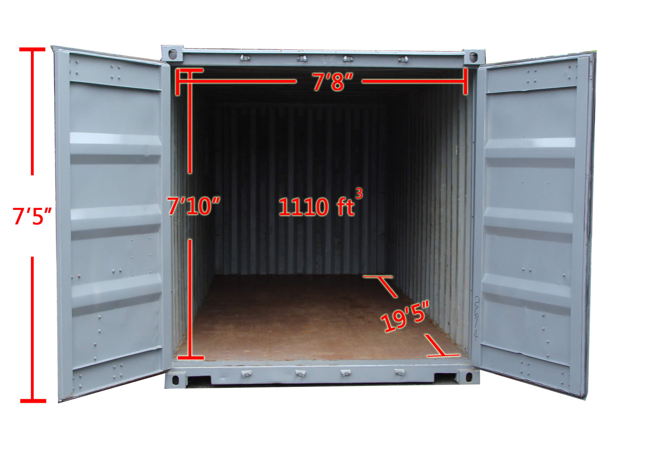 Inside 20ft Container